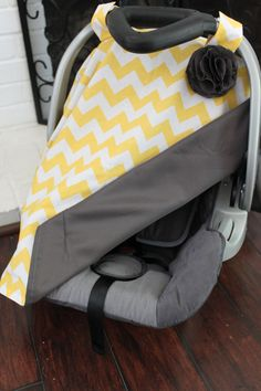 Car Seat Canopy- BOY OR GIRL. $36.00, via Etsy.