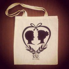 Wedding tote bag by Susie creativa Wedding Bags, I Love Fashion, Ideas Para, Reusable Tote Bags, Illustration, Artwork, Handmade, Wedding Stuff, Mariage