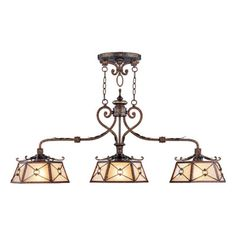 Livex Bristol Manor 8828-64 Island/Billiard Light 21.5H in - Palacial Bronze - 8828-64