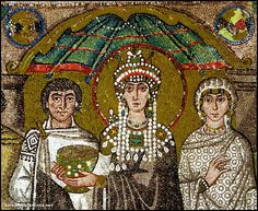 A mosaic of Teodora, wife of Giustiniano in the church of San Vitale in Ravenna.