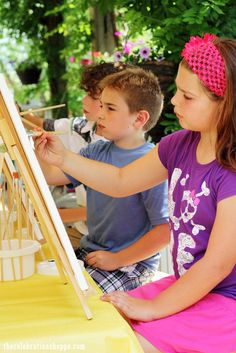 Fun Art Party for Creative Kids | @kimbyers TheCelebrationShoppe.com