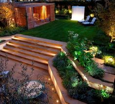 longline landscape design looks particularly impressive with night illumination