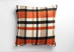 Orange Cushion Covers, Orange Cushions, Checked Cushions, Tartan, Throw Pillows, Home, Design, Toss Pillows, Cushions