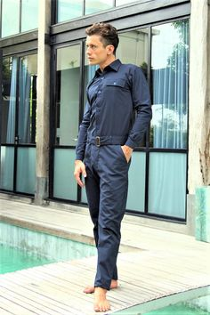 Hey, I found this really awesome Etsy listing at https://www.etsy.com/listing/244386824/jumpsuit-for-men-designer-jumpsuit-navy
