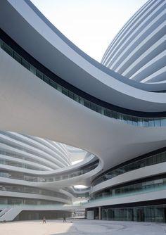 One of the great masters, Zaha Hadid! Galaxy Soho, Beijing, Zaha Hadid