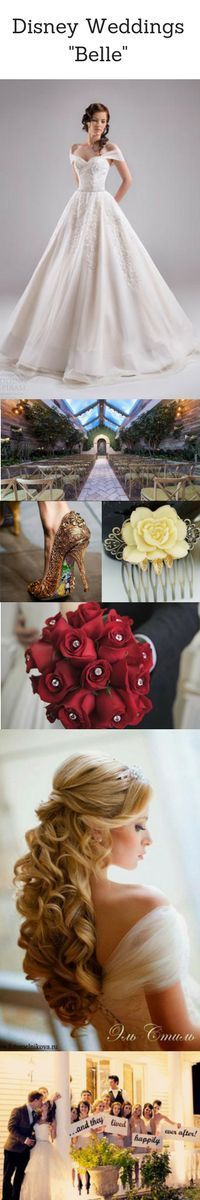 Belle Disney Princess | Disney Wedding Ideas | Beauty and the Beast | Fairytale Weddings