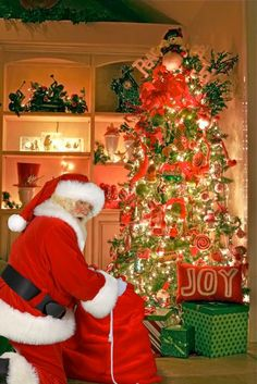 put a picture of santa you choose into a photo of your home from company's site