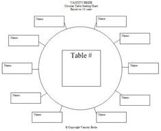 Free Table Seating Chart Template  Seating Charts
