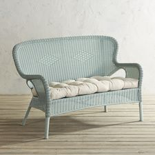 $270 Pier 1 Coco Cove Light Blue Settee