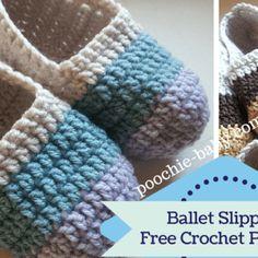 Free Crochet Pattern: Women's Ballet Slippers