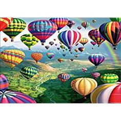 Staron DIY Full Drill Diamond Embroidery Rhinestone Pasted Painting Cross Stitch Kit Wall Art Decor 5D Diamond Painting by Number Kits Home Decor Landscape 5D Diamond Painting Hot Air Balloon