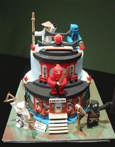 Martial Arts Cake Lego Ninjago Party Ninja