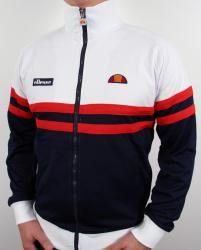 Ellesse Rimini Track Top in White/Navy/Red
