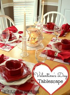 Valentine's Day Tablescape (Valentine's Day tablesetting)