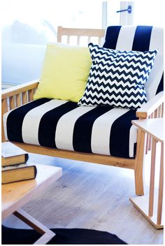 black  white yellow and wood perfect mix