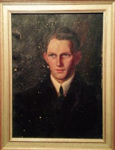 """Vintage portrait of fair skin young man (artist and subject unknown). 20""""w x 26""""h SOLD"""