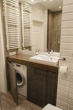 Ideas for bathroom ideas small modern washing machines Ikea Bathroom, Laundry In Bathroom, Budget Bathroom, Bathroom Flooring, Bathroom Interior, Bathroom Storage, Modern Bathroom, Master Bathroom, Bathroom Ideas