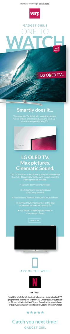Just a gadget girl email I did to promote OLED tv