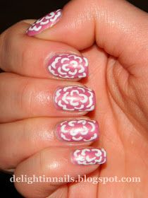 Delight In Nails: 30 Day Flower Challenge Day 30: Inspired by Another Participant