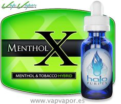 NUEVO líquido Halo Menthol X - tabaco + menthol! Debes probarlo! ;)   http://www.vapvapor.es/liquidos-halo/halo-menthol-x