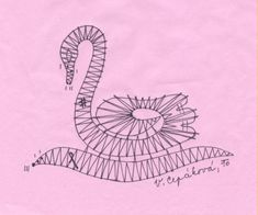 Lovely bobbin lace swan -- Paličkovaná labuť I (in Czech)