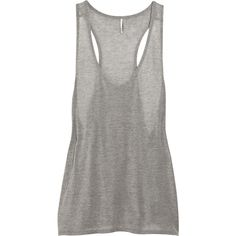 Yovad sheer cotton-jersey tank IRO ($30) ❤ liked on Polyvore
