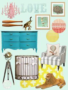 Vintage carnival nursery inspiration (pastel and beautiful!)