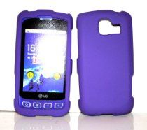 Charter Inc offer Purple Rubberized Snap on Hard Protective Cover Case for LG Optimus S LS670 + Microfiber Pouch Bag. This awesome product currently limited units, you can buy it now for  $3.95, You save - New