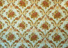 Vintage. This kind of reminds me of my grandma's walls, only that wallpaper was predominantly green.