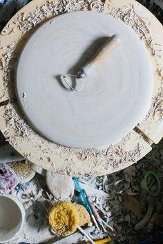 Handmade small batch ceramics studio via Waiting on Martha Ceramic Studio, Honeycomb, Ceramics, Create, Waiting, Handmade, Life, Ceramica, Pottery
