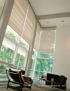 Install #Lutron #shades for your #livingroom to protect art work, reduce glares and save energy costs.