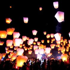 Paper Lantern Party - Celebrate Under a Luminous Night Sky