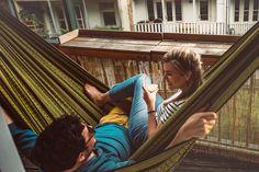 The Hammock Black Edition Gold to order online at Tropilex.com 🌴 1 Day shipping & free return! ☀️ #tropilex #relax #hammock #hangmat #hängematte #hamac #amaca #hamaca #hængekøje #hängmatta #hamak 🏖️ Indoor Hammock, Hammocks, Look At The Stars, Black Edition, Perfect Match, Hanging Chair, Relax, Romance, Balcony