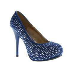 @Overstock - These dazzling pumps from Refresh by Beston feature a bright blue faux suede construction detailed with various shaped rhinestones. A 4-inch stiletto heel and 1.5-inch platform punctuate these stunning pumps with style.http://www.overstock.com/Clothing-Shoes/Refresh-by-Beston-Womens-Alyssa-03-Blue-Rhinestone-Pumps/6753899/product.html?CID=214117 $41.99