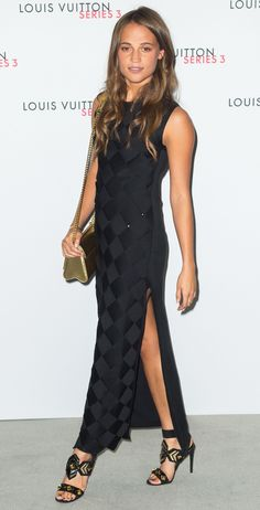 Alicia Vikander's Red Carpet Style - In Louis Vuitton, 2015  - from InStyle.com