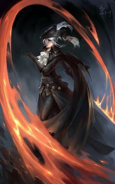 Lady Maria by Namcofy : ImaginaryDarkSouls Bloodborne Dungeons And Dragons Characters, Dnd Characters, Fantasy Characters, Female Characters, Dark Souls Characters, Arte Dark Souls, Dark Souls 2, Dark Fantasy Art, Dark Art