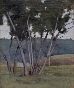 """North Woodstock Landscape,"" Dennis Miller Bunker, 1886, oil, private collection."