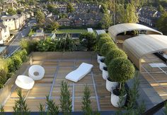 A penthouse terrace in Altringham, Cheshire by DIARMUID GAVIN Designs