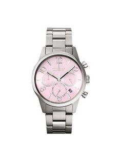 CHRONOGRAPH KH70B2-B46  A simple and elegant watch adorned with feminine rhinestones.  ¥33,600