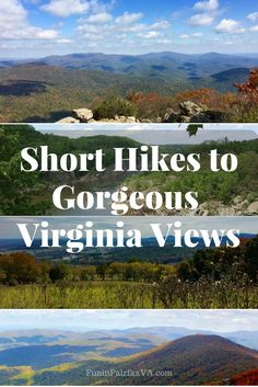 These short hikes, from easy walks close to DC, to more challenging climbs in the Blue Ridge mountains, all include the payoff of gorgeous Virginia views.