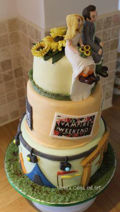 Music Festival Wedding Cake Vampire Weekend