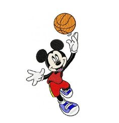 Mickey Mouse Basketball Embroidery Design in 3 by Cloud9Embroidery
