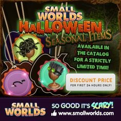 Awesome new Halloween Seasonals!  Play Medusa Wig, Play Mad Scientist Wig, Play Knife Tiara.