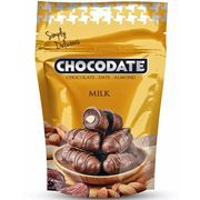 Финики из ОАЭ с миндалем внутри и покрытые молочным шоколадом. Snack Recipes, Snacks, Almond Milk, Chips, Chocolate, Dinners, Drinks, Food, Snack Mix Recipes