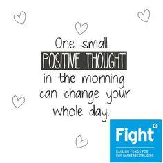Een mooie quote om de dag mee te beginnen!