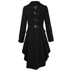 coat gothic jacket black steampunk women ladies long s victorian plus corset Victorian Coat, Gothic Coat, Gothic Jackets, Punk Jackets, Foxy Costume, Punk Rock Outfits, Jackets For Women, Clothes For Women, Double Breasted Jacket