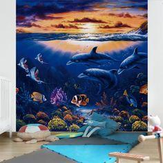 Kindertapeten - Vliestapeten - Dolphins...