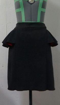 Woman's Fashion - Custom designed skirt from double sided fleece