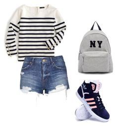 """#2"" by sanchaz ❤ liked on Polyvore featuring J.Crew, Topshop, adidas, Joshua's, women's clothing, women, female, woman, misses and juniors"
