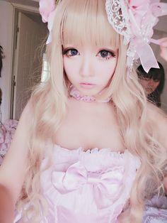 Kawaii japanese makeup inspiration Sweet Lolita | Dolly | Pastel